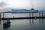 Stena Line ferry arriving, Harwich, Essex