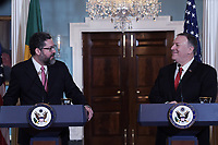 Washington, DC - September 13, 2019: U.S. Secretary of State Mike Pompeo meets with Brazilian Foreign Minister Ernesto Araujo, September 13, 2019, at the Department of State in Washington DC.  (Photo by Lenin Nolly/Media Images International)