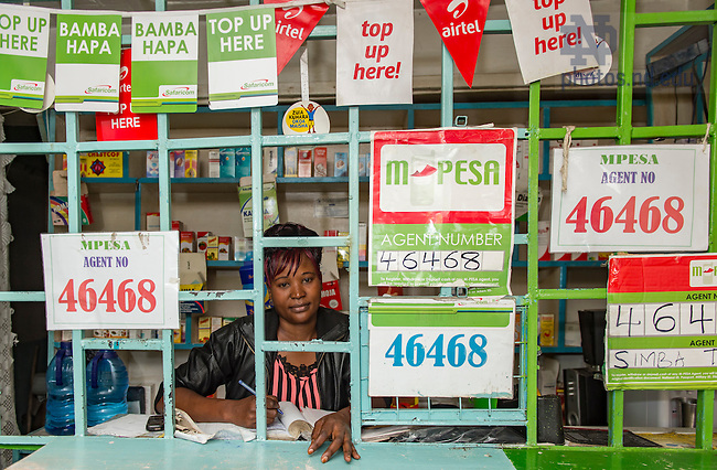 June 22, 2016; Drugstore in the Dandora slums of Nairobi, Kenya.  (Photo by Barbara Johnston/University of Notre Dame)