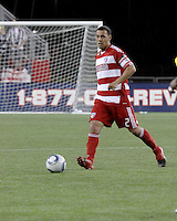 FC Dallas midfielder/forward Daniel Hernandez (2) gets ready to pass the ball.  The New England Revolution drew FC Dallas 1-1, at Gillette Stadium on May 1, 2010