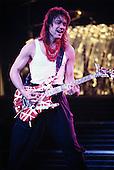 EDDIE VAN HALEN: VAN HALEN: Live, <br /> In New York City, 1985.  <br /> Photo Credit: Eddie Malluk/Atlas Icons.com