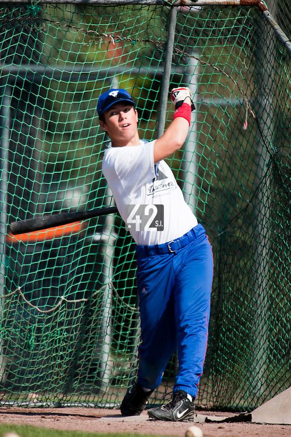 Baseball - 2009 European Championship Juniors (under 18 years old) - Bonn (Germany) - 05/08/2009 - Day 3 - Warren Coopman (France)