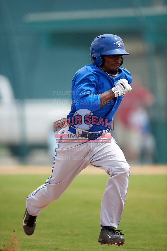 Toronto Blue Jays Cliff Brantley (56) during a minor league Spring Training game against the Pittsburgh Pirates on March 24, 2016 at Pirate City in Bradenton, Florida.  (Mike Janes/Four Seam Images)