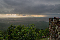 Rain storm over the Arkansas River Valley viewed from Petit Jean State Park.