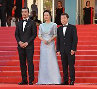 Fan Liao, Zhao Tao &amp; director Zhangke Jia at the gala screening for &quot;The Eternals&quot; at the 71st Festival de Cannes, Cannes, France 11 May 2018<br /> Picture: Paul Smith/Featureflash/SilverHub 0208 004 5359 sales@silverhubmedia.com