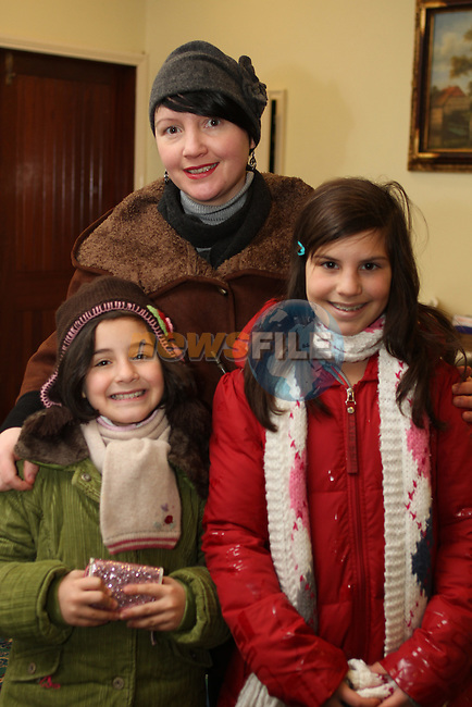 Eleanora, Sara and Dina Abuhantash at the Christmas Craft Fair in The Boyne Valley Hotel...(Photo credit should read Jenny Matthews www.newsfile.ie)....This Picture has been sent you under the conditions enclosed by:.Newsfile Ltd..The Studio,.Millmount Abbey,.Drogheda,.Co Meath..Ireland..Tel: +353(0)41-9871240.Fax: +353(0)41-9871260.GSM: +353(0)86-2500958.email: pictures@newsfile.ie.www.newsfile.ie.