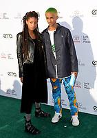 Willow Smith &amp; Jaden Smith at the 27th Annual Environmental Media Awards at Barker Hangar, Santa Monica Airport, Santa Monica, USA 23 Sept. 2017<br /> Picture: Paul Smith/Featureflash/SilverHub 0208 004 5359 sales@silverhubmedia.com