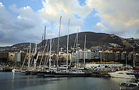 Tall masted yachts, Santa Cruz de Tenerife, Santa Cruz harbour Marina,boats,yachts. Canary Islands