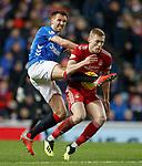 05.12.2018 Rangers v Aberdeen: Gareth McAuley and Sam Cosgrove
