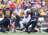 College Park, MD - September 9, 2017: Towson Tigers running back Shane Simpson (13) in action during game between Towson and Maryland at  Capital One Field at Maryland Stadium in College Park, MD.  (Photo by Elliott Brown/Media Images International)