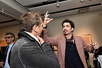 "NEW YORK CITY - APRIL 20: (L-R) Actors Sebastian Roche and Robert Sheehan attend the Sotheby's lunch and private preview of works by Picasso in conjunction with the National Geographic show ""Genius: Picasso"" at Sotheby's on April 20, 2018 in New York City. (Photo by Anthony Behar/ National Geographic/PictureGroup)"