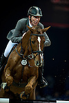 Ludger Beerbaum of Germany riding Zinedine at the the Massimo Dutti Trophy during the Longines Hong Kong Masters 2015 at the AsiaWorld Expo on 15 February 2015 in Hong Kong, China. Photo by Juan Flor / Power Sport Images