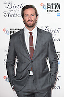"Armie Hammer<br /> at the London Film Festival 2016 premiere of ""The Birth of a Nation"" at the Odeon Leicester Square, London.<br /> <br /> <br /> ©Ash Knotek  D3173  11/10/2016"