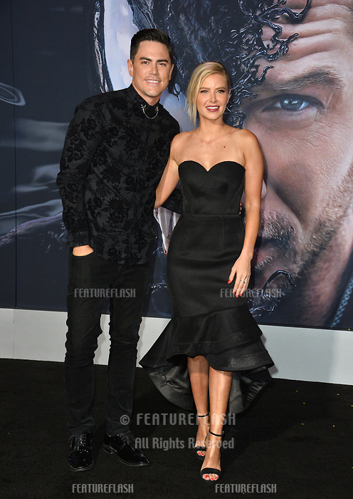 LOS ANGELES, CA. October 01, 2018: Ariana Madix &amp; Tom Sandoval at the world premiere for &quot;Venom&quot; at the Regency Village Theatre.<br /> Picture: Paul Smith/Featureflash