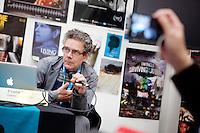 Amsterdam, 24 november 2010.International Documentary Filmfestival Amsterdam IDFA.Industry Panel: Cross Media, Arti.Frank Boyd (Unexpected Media)..Photo by Felix Kalkman