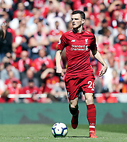 Liverpool's Andrew Robertson<br /> <br /> Photographer Rich Linley/CameraSport<br /> <br /> The Premier League - Liverpool v Wolverhampton Wanderers - Sunday 12th May 2019 - Anfield - Liverpool<br /> <br /> World Copyright © 2019 CameraSport. All rights reserved. 43 Linden Ave. Countesthorpe. Leicester. England. LE8 5PG - Tel: +44 (0) 116 277 4147 - admin@camerasport.com - www.camerasport.com