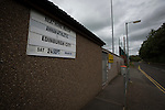 Deserted streets around Galabank before Annan Athletic hosted visitors Edinburgh City for the first SPFL meeting between the two teams. The match ended in a 1-1 draw, watched by 351 spectators. City were still without a League win in the new season.