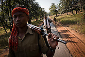 Special Police Officers (SPO) patrol in Bijapur area in Chhattisgarh, India. Photo: Sanjit Das/Panos for The Times