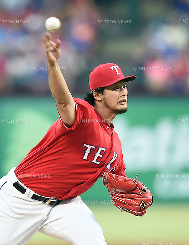 Yu Darvish (Rangers), JUNE 8, 2016 - MLB : Texas Rangers starting pitcher Yu Darvish pitches during the MLB game between the Houston Astros and the Texas Rangers at Globe Life Park in Arlington, United States. (Photo by AFLO)
