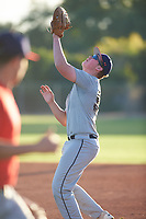 Tyler Jilek (55), from Kennewick, Washington, while playing for the Tigers during the Under Armour Baseball Factory Recruiting Classic at Gene Autry Park on December 27, 2017 in Mesa, Arizona. (Zachary Lucy/Four Seam Images)