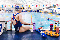Picture by Rogan Thomson/SWpix.com - 08/12/2017 - Swimming - Team Bath Karen Bowen Feature -  Bath University, Bath, England - Karen's Daughter and Team Bath AS swimmer Rhiannon Bowen looks on during training.