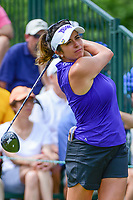 Gerina Piller (USA) watches her tee shot on 1 during Saturday's third round of the 72nd U.S. Women's Open Championship, at Trump National Golf Club, Bedminster, New Jersey. 7/15/2017.<br /> Picture: Golffile | Ken Murray<br /> <br /> <br /> All photo usage must carry mandatory copyright credit (&copy; Golffile | Ken Murray)