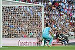 Valencia´s goalkeeper Diego Alves during 2014-15 La Liga match between Real Madrid and Valencia at Santiago Bernabeu stadium in Madrid, Spain. May 09, 2015. (ALTERPHOTOS/Luis Fernandez)