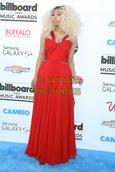 Nicki Minaj.2013 Billboard Music Awards held at the MGM Grand Garden Arena, Las Vegas, Nevada, USA..May 19th, 2013.full length red dress cleavage .CAP/ADM/MJT.© MJT/AdMedia/Capital Pictures