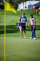 Rickie Fowler (USA) looks over his putt with his caddie on 12 during round 1 of the Honda Classic, PGA National, Palm Beach Gardens, West Palm Beach, Florida, USA. 2/23/2017.<br /> Picture: Golffile | Ken Murray<br /> <br /> <br /> All photo usage must carry mandatory copyright credit (&copy; Golffile | Ken Murray)