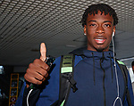 21.06.18 New Rangers signing Ovie Ejaria arrives at Malaga airport to report to the pre-season training camp