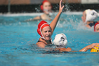 17 February 2008: Stanford Cardinal Kim Krueger during Stanford's 10-5 win against the UC Davis Aggies at Maples Pavilion in Stanford, CA.