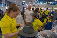 Welcome home - Sydney airport / San Tait<br /> PyeongChang 2018 Paralympic Games<br /> Australian Paralympic Committee<br /> Sydney International Airport<br /> PyeongChang South Korea<br /> Tuesday March 20th 2018<br /> © Sport the library / Jeff Crow