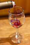 A taste of red wine is poured into my glass at Horton Vineyards.