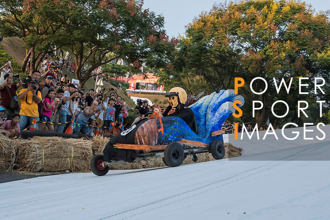 Team 四個廢宅的吶喊  in action during the Red Bull Soapbox Race 2017 Taipei at Multipurpose Gymnasium National Taiwan Sport University on 01 October 2017, in Taipei, Taiwan. Photo by Victor Fraile / Power Sport Images