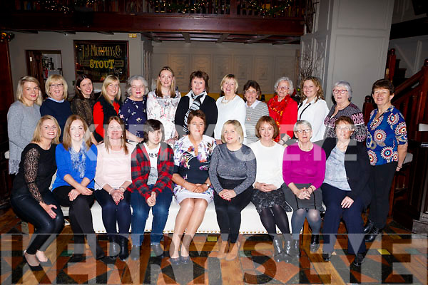 Christine Horgon (Listry) seated front centre with her fiends at the Meadowlands Hotel celebrating her retirement party  from the Bons Hospital Tralee.