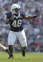 01 September 2007:  Penn State DE Maurice Evans (48)..The Penn State Nittany Lions defeated the Florida International Golden Panthers 59-0 September 1, 2007 at Beaver Stadium in State College, PA..
