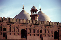 The origins of the Lahore Fort go as far back as antiquity, however, the existing base structure was built during the reign of Mughal Emperor Akbar between 1556–1605. In 1981, the fort was listed as a UNESCO World Heritage Site. (1996)