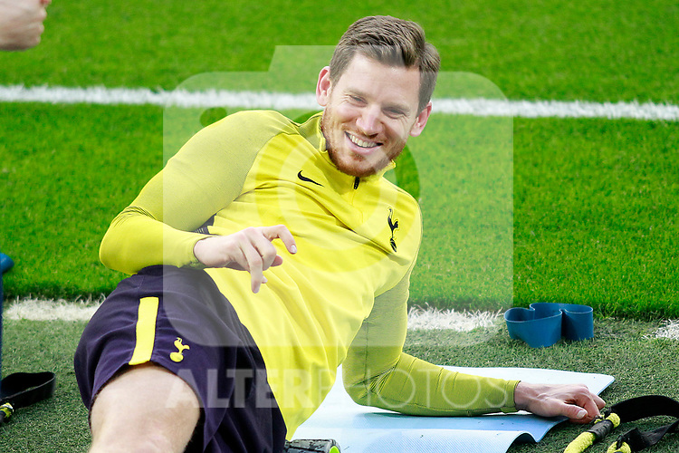 Tottenham Hotspur FC's Jan Vertonghen during training session. October 16,2017.(ALTERPHOTOS/Acero)