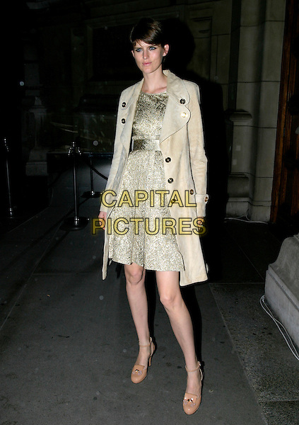 STELLA TENNANT.British Fashion Awards, Raphael Gallery, Victoria & Albert Museum, London, SW7, UK,.November 10th, 2005.Ref: AH.full length beige cream jacket coat round toes.www.capitalpictures.com.sales@capitalpictures.com.© Capital Pictures.