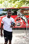 20.07.2019, Heinz-Dettmer-Stadion, Lohne, GER, Interwetten Cup, VfL Osnabrueck vs 1. FC Koeln<br /> <br /> im Bild<br /> Jhon Córdoba / Cordoba (Koeln #15),  <br /> bei Ankunft am Stadion, <br /> <br /> Foto © nordphoto / Ewert