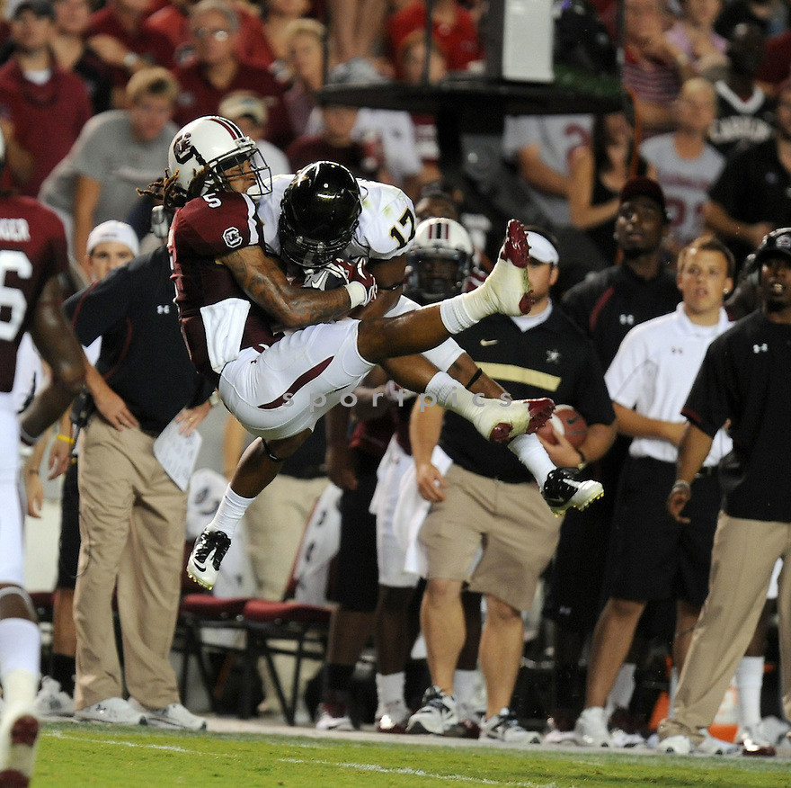 STEPHON GILMORE, of the South Carolina Gamecocks, in action during South Carolina's game against Vanderbilt on September 24, 2011 at Williams-Brice Stadium in Columbia, SC. South Carolina beat Vanderbilt 21-3.