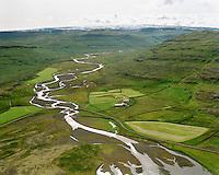 Múli séð til suðausturs - inn Laugarbólsdalur, Nauteyrarhreppur  / Muli viewing southeast into Laugarbolsdalur and Kollafjardaheidi, Nauteyrarhreppur.