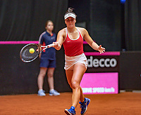 Den Bosch, The Netherlands, Februari 9, 2019,  Maaspoort , FedCup  Netherlands - Canada, First round match : Bianca Andreescu (CAN)<br /> Photo: Tennisimages/Henk Koster