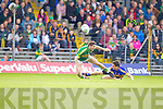Killian Young, Kerry in action against Ciaran McDonald, Tipperary in the first round of the Munster Football Championship at Fitzgerald Stadium on Sunday.