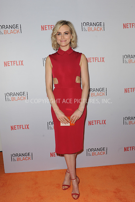 WWW.ACEPIXS.COM<br /> June 11, 2015 New York City<br /> <br /> Taylor Schilling attending the 'Orangecon' Fan Event at Skylight Clarkson SQ on June 11, 2015 in New York City.<br /> <br /> Credit : Kristin Callahan/ACE Pictures<br /> Tel: (646) 769 0430<br /> e-mail: info@acepixs.com<br /> web: http://www.acepixs.com