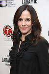 "Mary Louise Parker attends the cast photo call for ""Laramie: A Legacy""  on September 24, 2018 at The Gerald W. Lynch Theater at John Jay College in New York City."