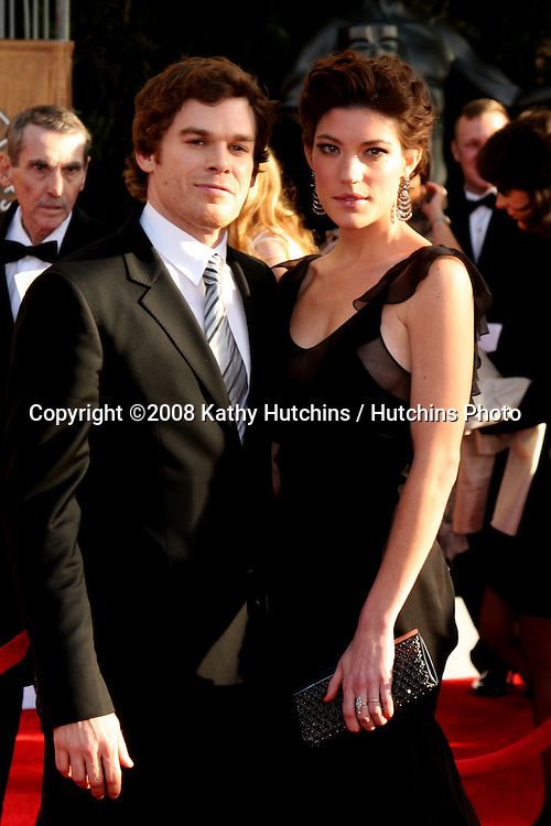 Michael C. Hall & Jennifer Carpenter. arriving at the Screen Actors Guild Awards, at the Shrine Auditorium in Los Angeles, CA on .January 25, 2009.©2008 Kathy Hutchins / Hutchins Photo..