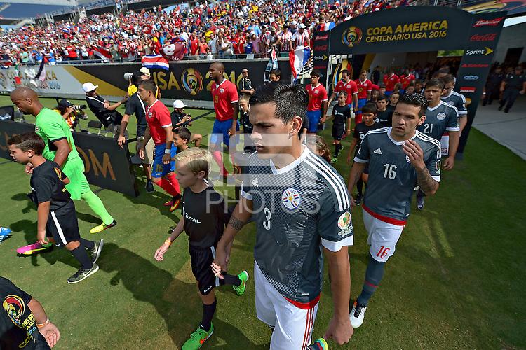 Action photo during the match Costa Rica vs Paraguay, Corresponding Group -A- America Cup Centenary 2016, at Citrus Bowl Stadium<br /> <br /> Foto de accion durante el partido Estados Unidos vs Colombia, Correspondiante al Grupo -A-  de la Copa America Centenario USA 2016 en el Estadio Citrus Bowl, en la foto: Gustavo Gomez de Paraguay<br /> <br /> <br /> 04/06/2016/MEXSPORT/Isaac Ortiz.