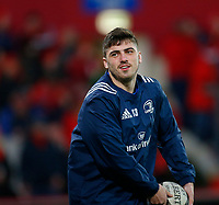 28th December 2019; Thomond Park, Limerick, Munster, Ireland; Guinness Pro 14 Rugby, Munster versus Leinster; Jimmy O'Brien of Leinster warms up prior to kickoff - Editorial Use