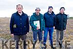 Brendan Blackwell, Michael Wycherley (Judge), Matthew Coakley (Judge) and Jim Healy (Chairman) at the Ardfert Ploughing on Sunday.